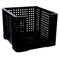 Really Useful 35L Open Fronted Crate - Black