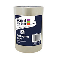 Paint Partner Packaging Tape Clear 48mm x 48m - 3 pack
