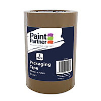 Paint Partner Packaging Tape Brown 48mm x 48m - 3 pack