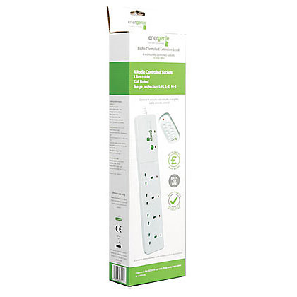 Image for Energenie Extension Lead - Radio Controlled - 4 Socket from StoreName