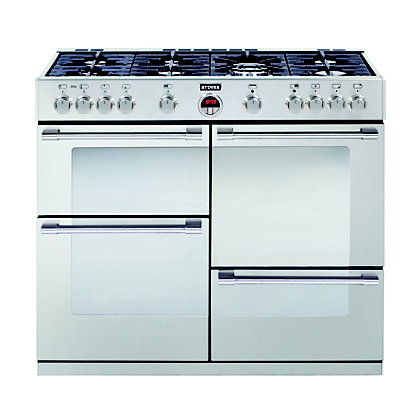 Image for Stoves Sterling R1000GT Gas Range Cooker - Stainless Steel from StoreName