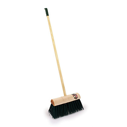 Image for Heavy Duty PVC Broom with Wooden Handle - Large - 13in from StoreName