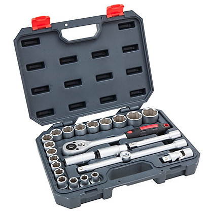 Image for Crescent CTK25NEU 1/2-Inch Drive Mechanics Tool Set - 25 Piece from StoreName