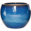Boscastle Blue Glazed Plant Pot - 22cm