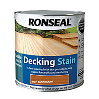 Ronseal Decking Stain Rich Mahogany - 2.5L