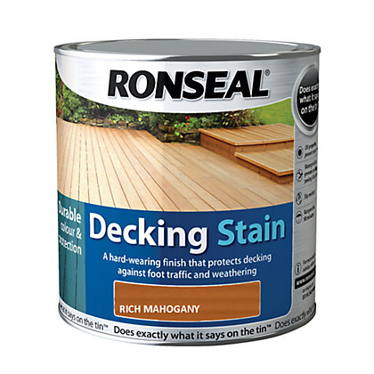 Image for Ronseal Decking Stain Rich Mahogany - 2.5L from StoreName