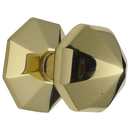Image for Octagonal Centre Door Knob - Brass from StoreName