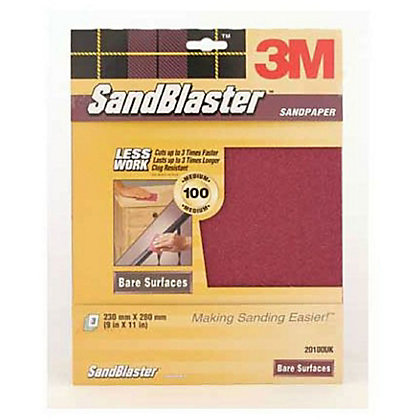 Image for 3M P100 SandBlaster Sandpaper - Fine - 3 Pack from StoreName