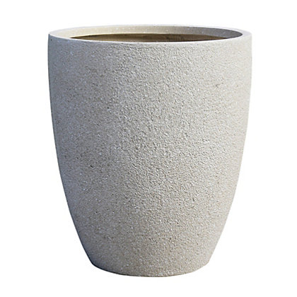 Image for Niall Cup Garden Planter in Sand - 42cm from StoreName