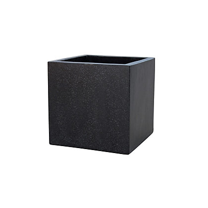 Image for Plaza Cube Planter - Black from StoreName
