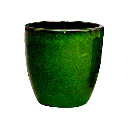 Image for Chiswick Egg Garden Planter in Dark Green - 27cm from StoreName