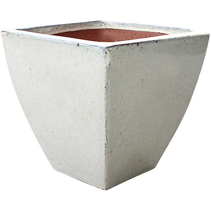 Image for Classic Square Planter - Cream from StoreName