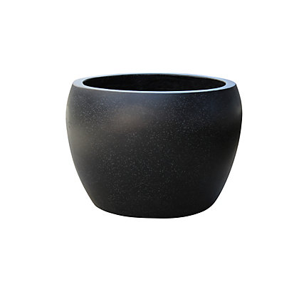 Image for Plaza Moon Planter - Small / Black from StoreName