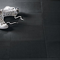 Black Vinyl Tile - Home Delivery