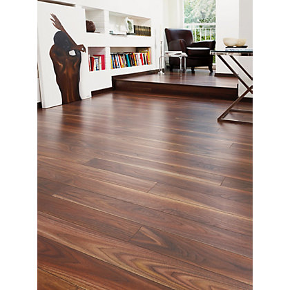 Image for Rich Walnut Laminate Flooring - Home Delivery from StoreName
