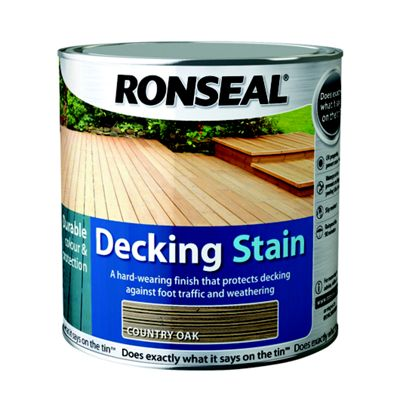 Homebase Ronseal Decking Stain Country Oak 2 5l