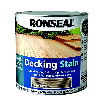 Image for Ronseal Decking Stain Country Oak - 2.5L from StoreName