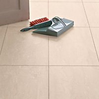 Ceramic Effect Beige Travertine Laminate Flooring - 2.52 sq m