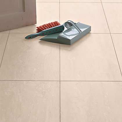 Image for Ceramic Effect Beige Travertine Laminate Flooring - 2.52sq m per pack from StoreName
