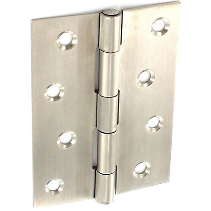 Image for Butt Hinge Satin stainless steel - 100mm - Pack of 2 from StoreName