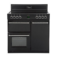 Belling Classic 90E Electric Range Cooker - Black.