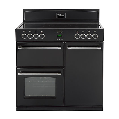 Image for Belling Classic 90E Electric Range Cooker - Black. from StoreName