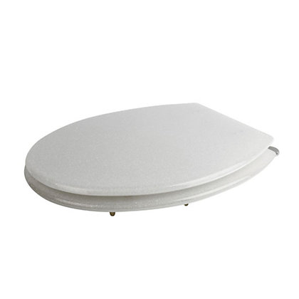 Image for Croydex Glitter White Resin Toilet Seat from StoreName