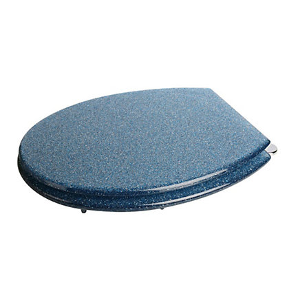 Image for Croydex Glitter Blue Resin Toilet Seat from StoreName
