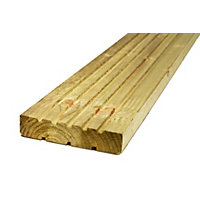 Softwood Deck Board - 28 x 144mm x 2.4m - Green