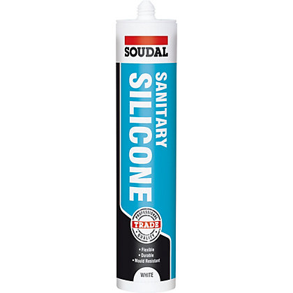 Image for Soudal Trade Sanitary Silicone Sealant White - 300ml from StoreName