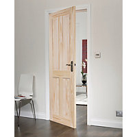 London 4 Panel Clear Pine Internal Door - 762mm Wide