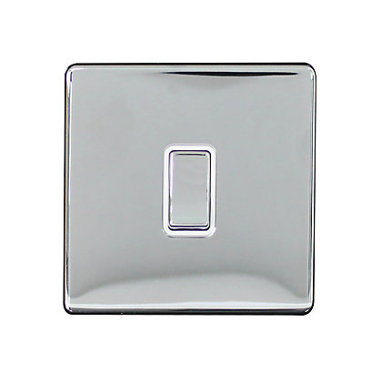 Image for Metal Screwless 10A 1 Gang 2 Way Switch - Chrome from StoreName