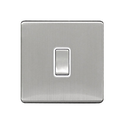 Image for Metal Screwless 10A 1 Gang 2 Way Switch - Stainless Steel from StoreName