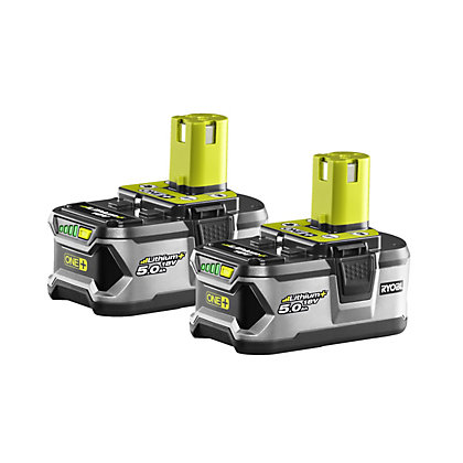 Image for Ryobi RB118LL50 18V ONE+ 2 x 50.0ah Battery Twin Pack from StoreName