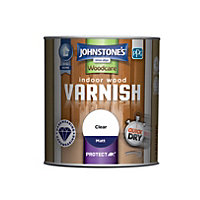Johnstones Indoor Wood Varnish Matt Clear - 250ml