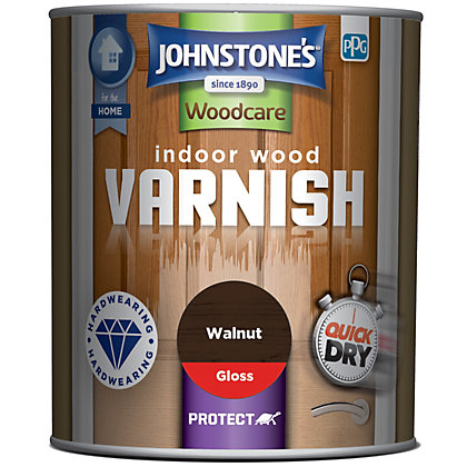 Image for Johnstones Indoor Wood Varnish Gloss Walnut - 750ml from StoreName