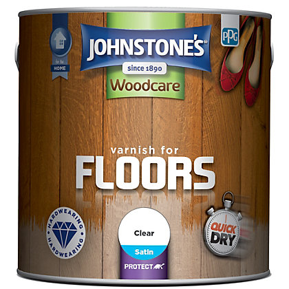 Image for Johnstones Floor Varnish Satin Clear - 2.5L from StoreName