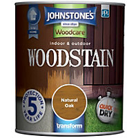 Johnstones Interior & Exterior Woodstain - Natural Oak - 750ml