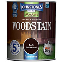 Johnstones Interior & Exterior Woodstain - Dark Rosewood - 750ml
