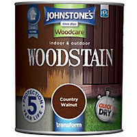Johnstones Interior & Exterior Woodstain - Country Walnut - 750ml