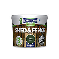 Johnstones One Coat Shed and Fence - Forest Green - 5L