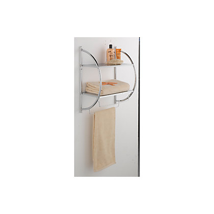 image for shelf and towel rail chrome from storename