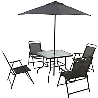 Quebec Metal 4 Seater Garden Furniture Set