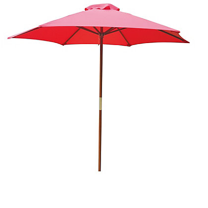 Image for Wooden Parasol in Raspberry - 2M from StoreName