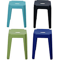 Marquee Stacking Coloured Metal Stool (Available in 4 Colours)