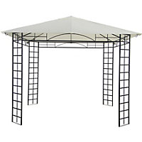 Steel Framed Gazebo - Cream & Black