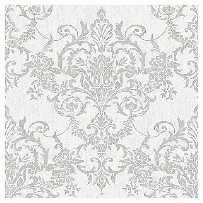 Image for Superfresco Easy Victorian Damask Silver Wallpaper from StoreName