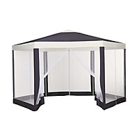 Hexagonal Gazebo with Mesh panels - 4 X 4M