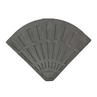Quarter Parasol Base for Overhanging Parasol - Black & Grey