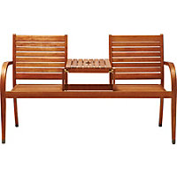 Peru 2 Seater Wooden Companion Seat
